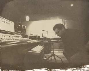 russell listening | jimmy's studio| salt print 2012 | image 2010