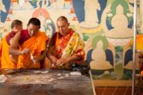 Deprung Loseling Monks | making Medicine Buddha Mandala |Tibetan Gallery & Studio sebastopol, ca